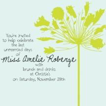 Amelie Wedding Shower Invite